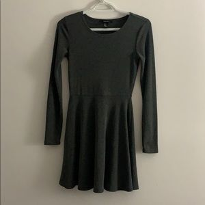 Forever 21 Gray A-Fit Dress S